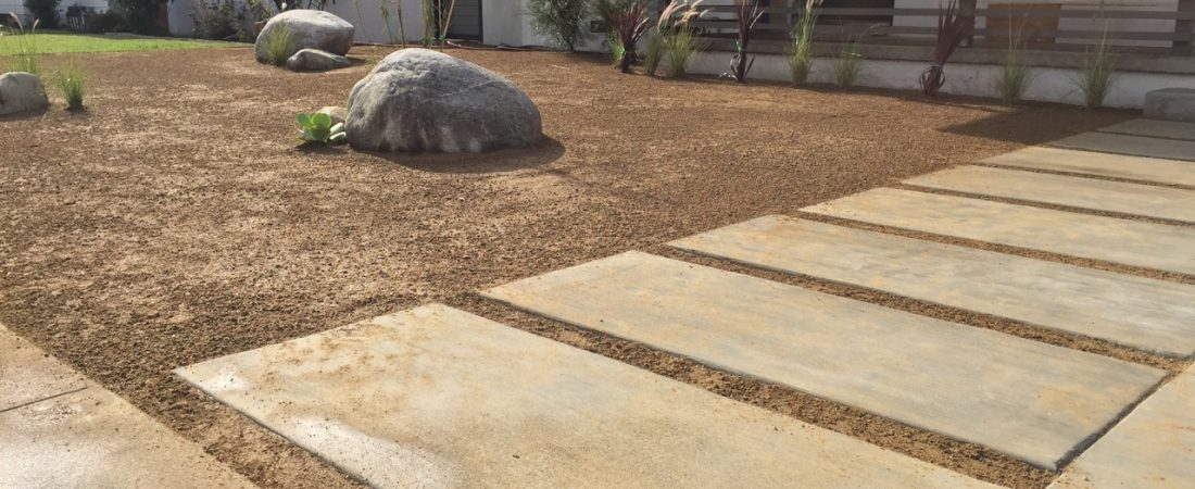 big paver walkway front landscaping for customer in los angeles county