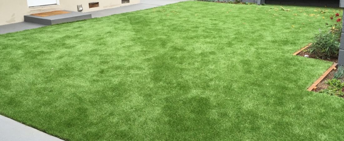 drought tolerant landscaping synthetic grass installation