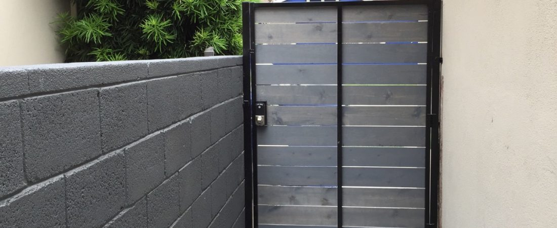 gate design for landscaping client in los angeles
