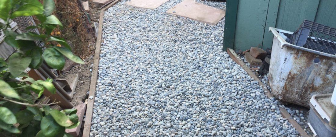 gravel walk way