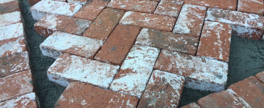 harringbone brick close up for los angeles customer