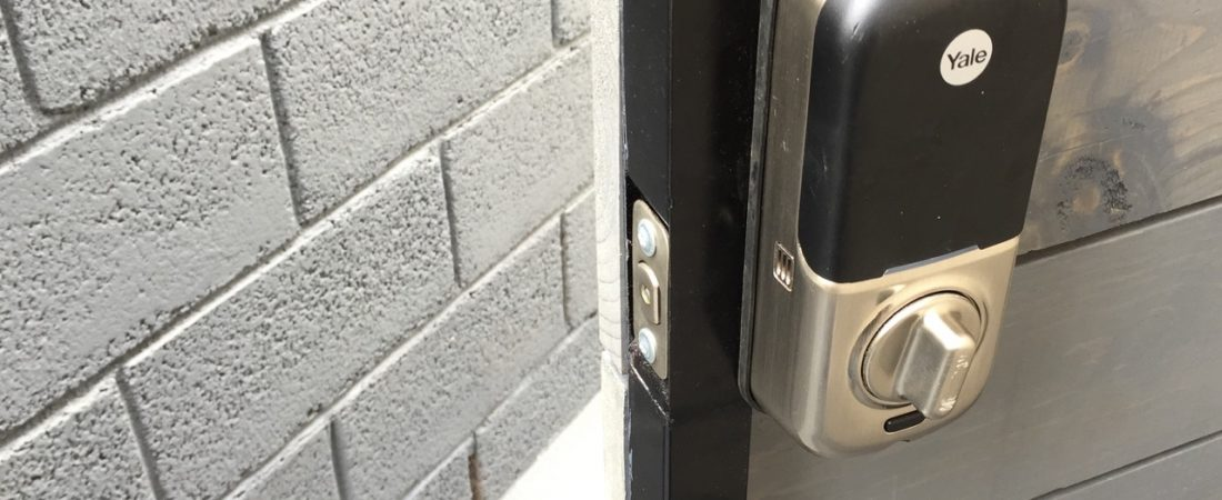 security door lock for back gate customer in L.A