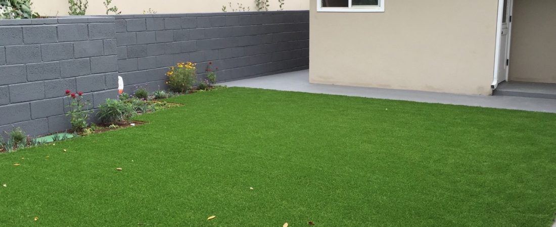 synthetic grass installed