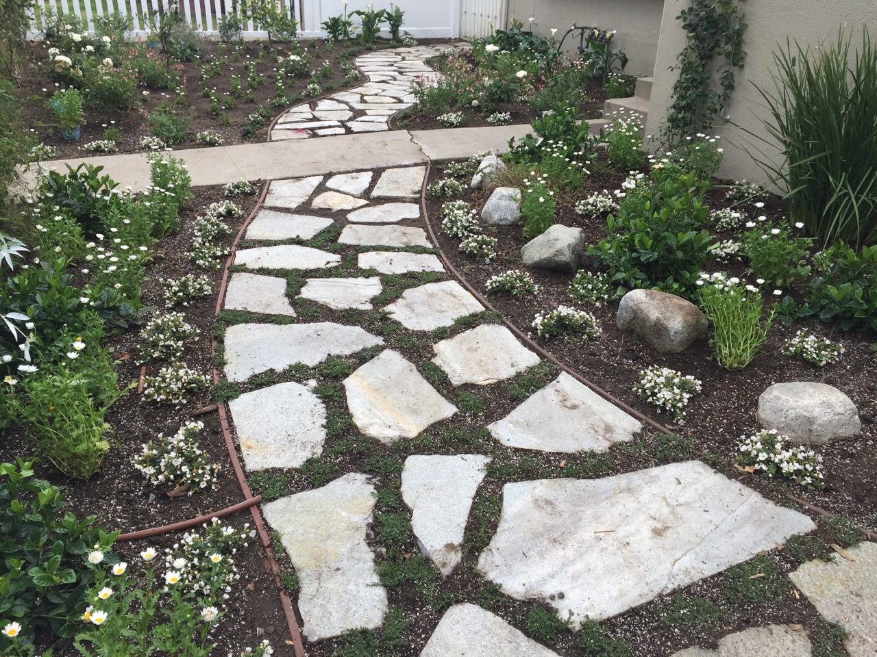 photo of paver work for a client from los angeles california